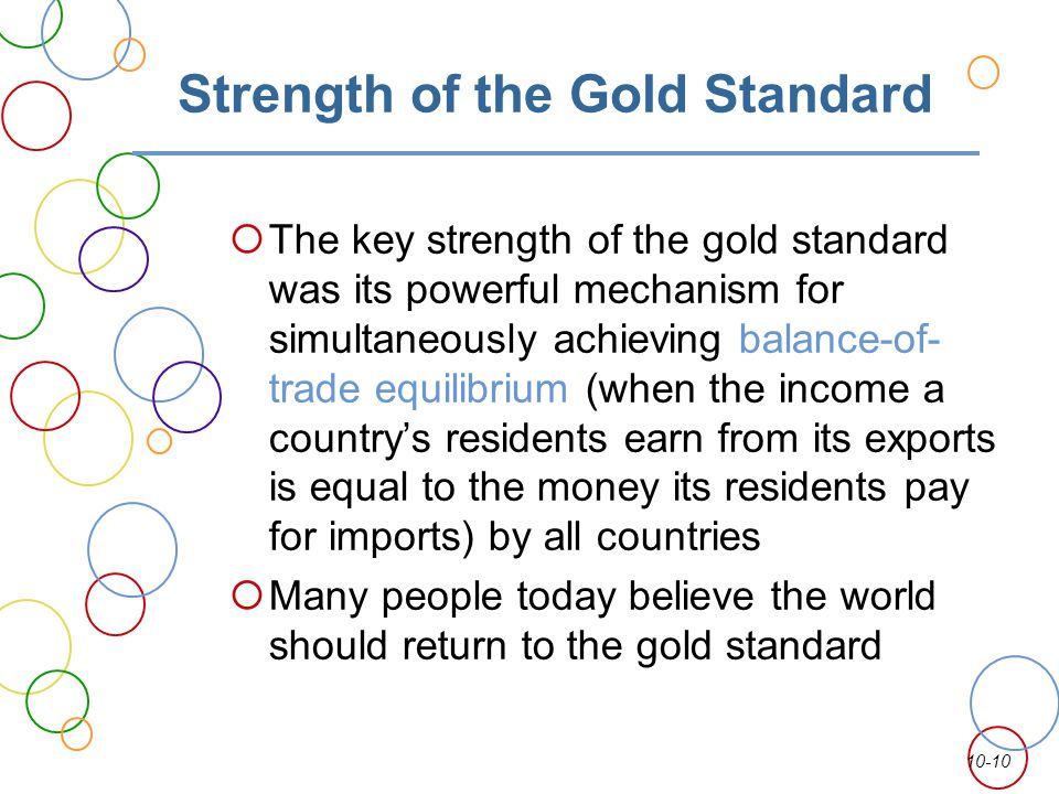Strength of the Gold Standard