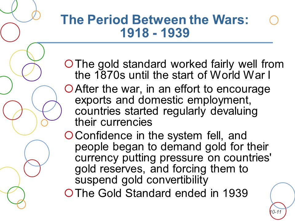 The Period Between the Wars: 1918 - 1939
