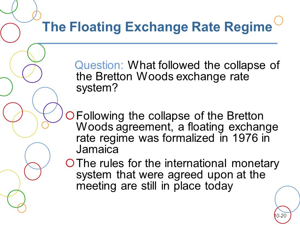 The Floating Exchange Rate Regime