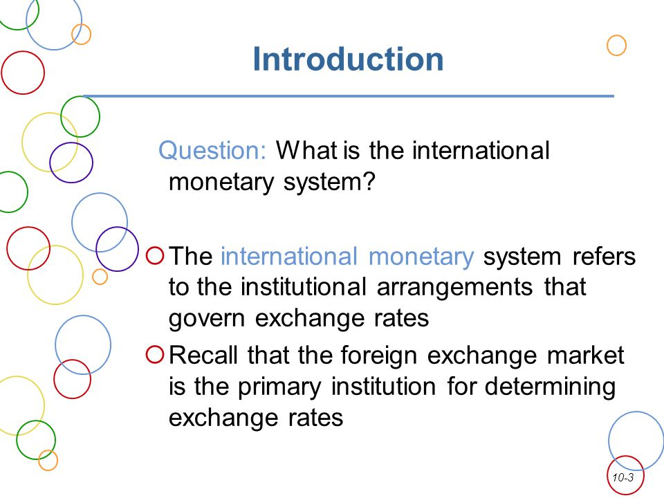 Introduction to foreign exchange