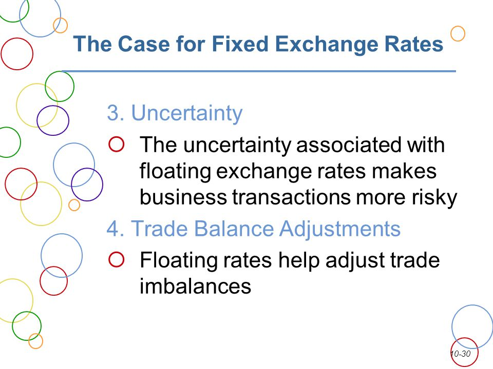 The Case for Fixed Exchange Rates