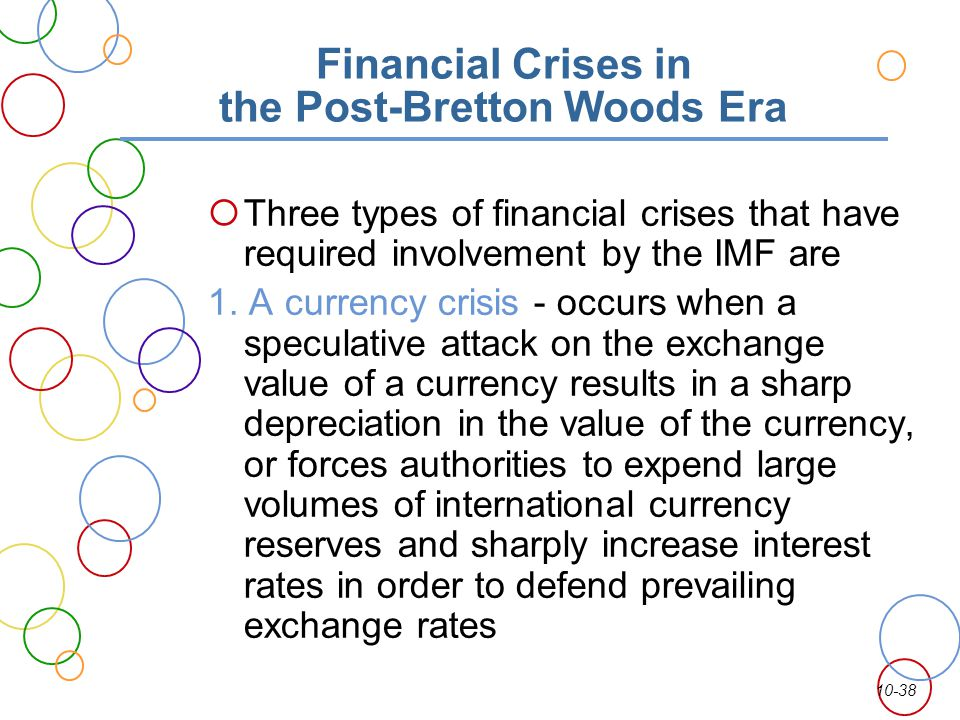 Financial Crises in the Post-Bretton Woods Era