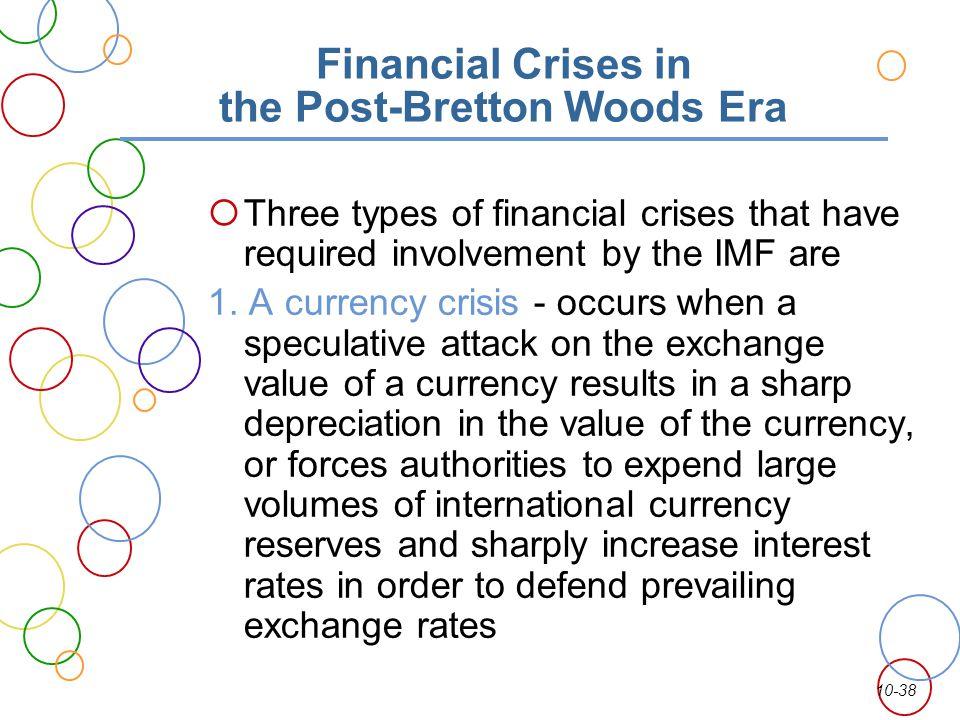 Financial Crises in the Post-Bretton Woods Era