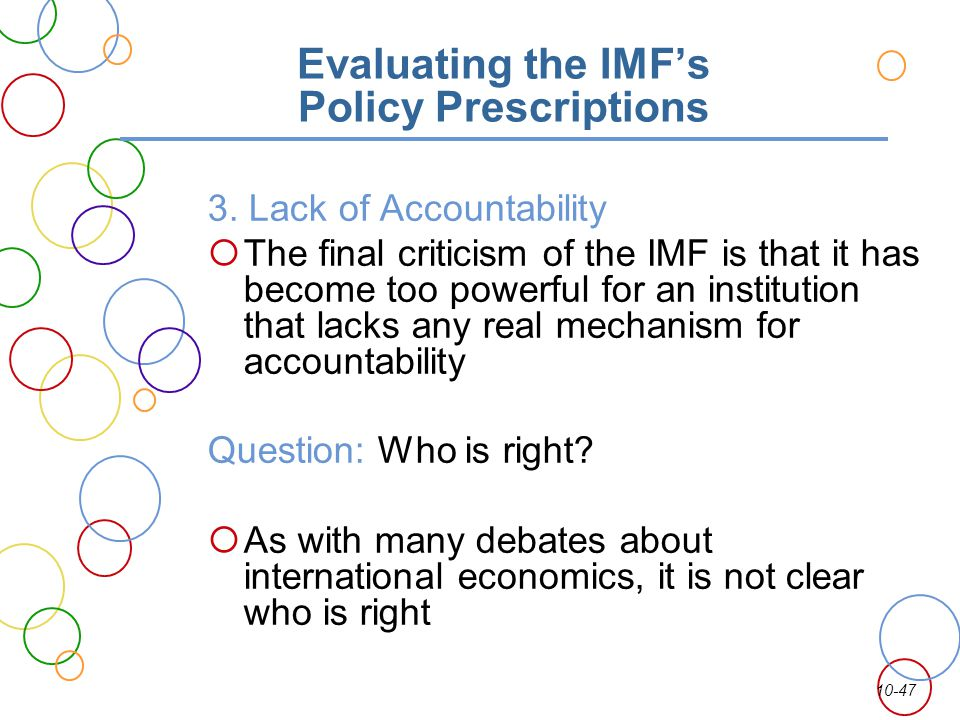 Evaluating the IMF's Policy Prescriptions