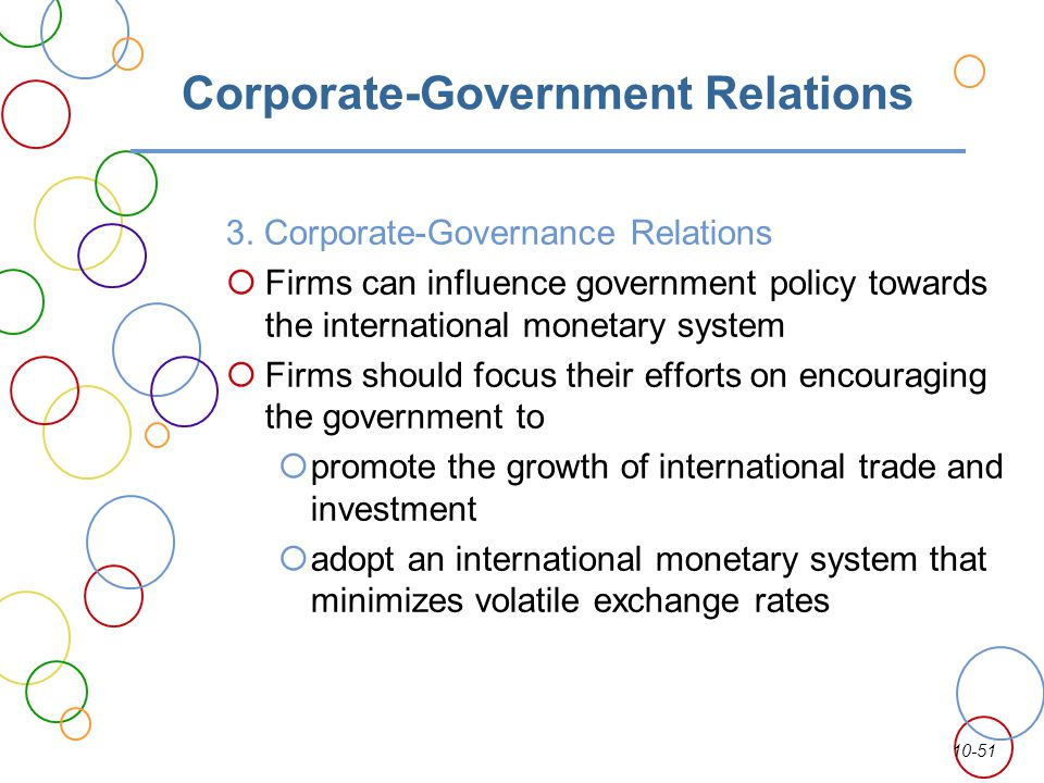 Corporate-Government Relations