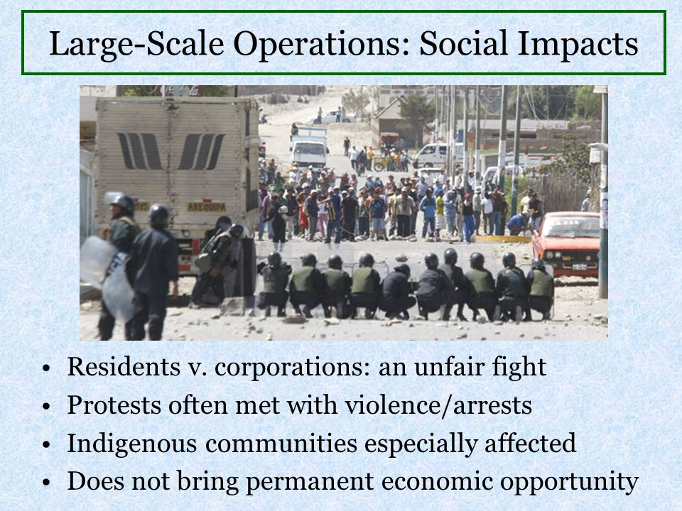 Large-Scale Operations: Social Impacts