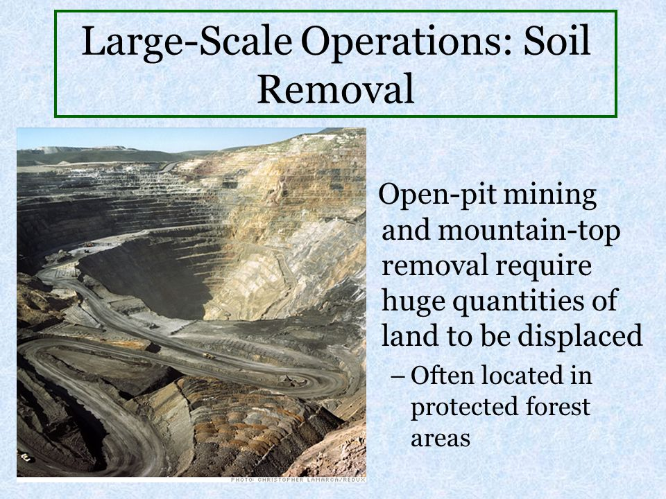 Large-Scale Operations: Soil Removal