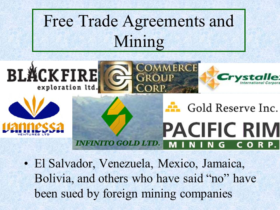 Free Trade Agreements and Mining