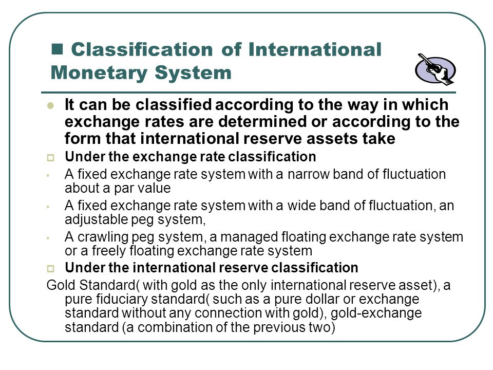 Classification of International Monetary System