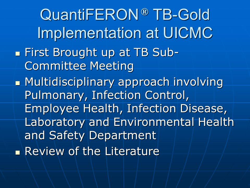 QuantiFERON ® TB-Gold Implementation at UICMC