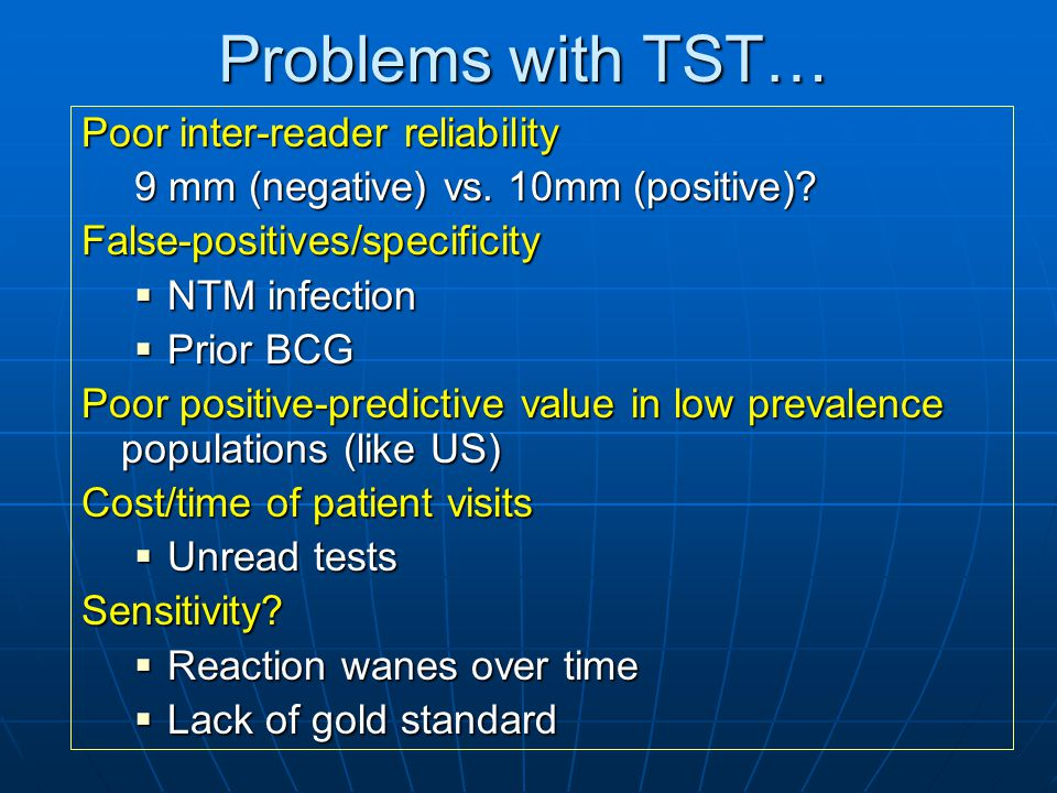 Problems with TST… Poor inter-reader reliability