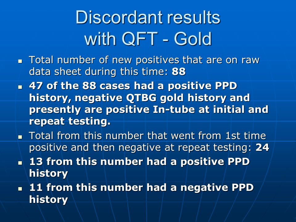 Discordant results with QFT - Gold