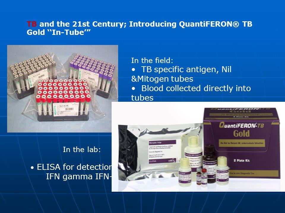 • TB specific antigen, Nil &Mitogen tubes