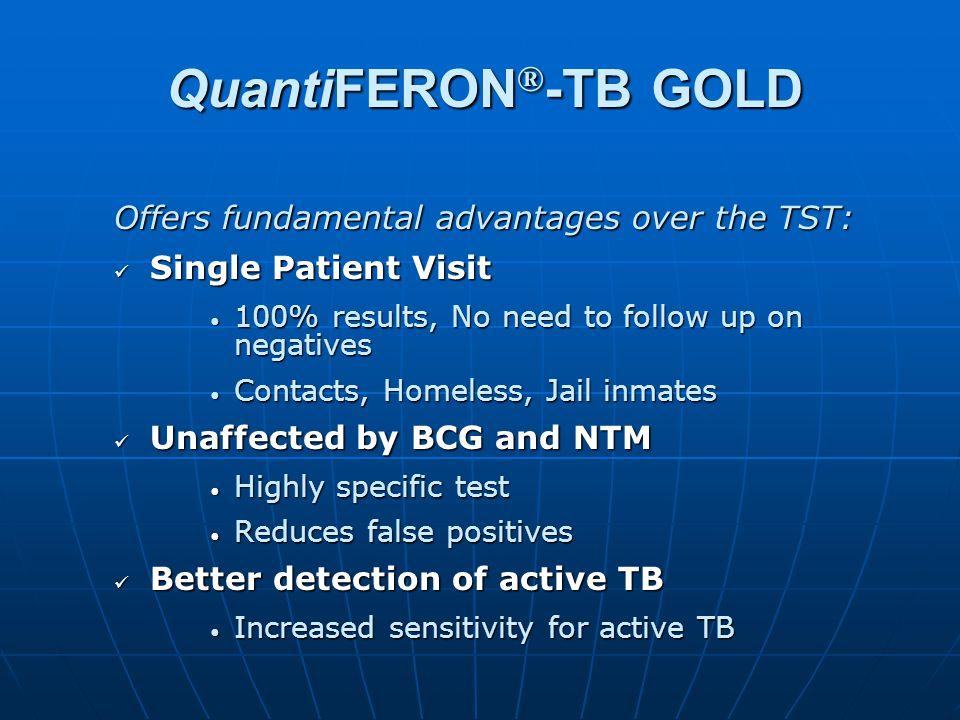 QuantiFERON®-TB GOLD Offers fundamental advantages over the TST:
