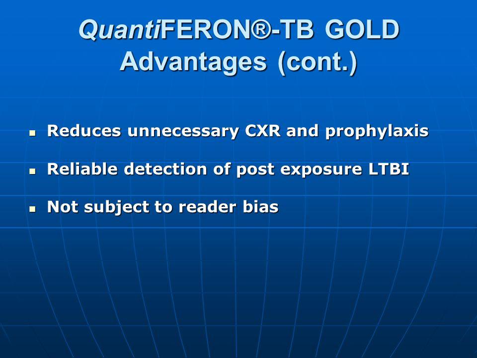 QuantiFERON®-TB GOLD Advantages (cont.)