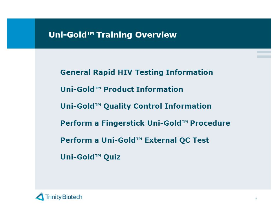 Uni-Gold™ Training Overview