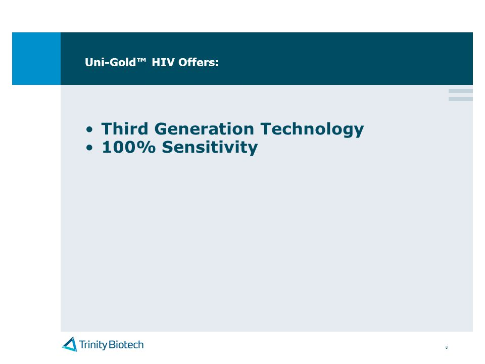 Third Generation Technology 100% Sensitivity
