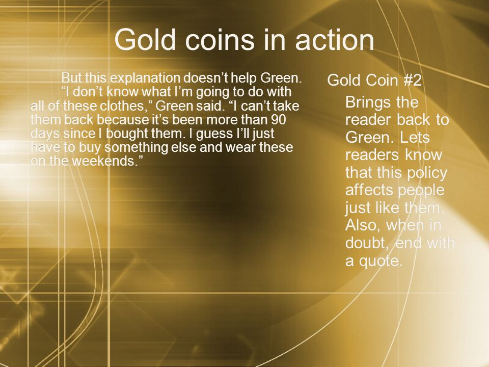 Gold coins in action Gold Coin #2