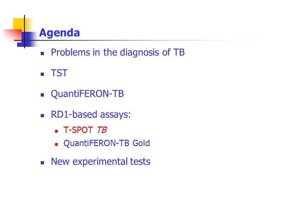 Agenda Problems in the diagnosis of TB TST QuantiFERON-TB