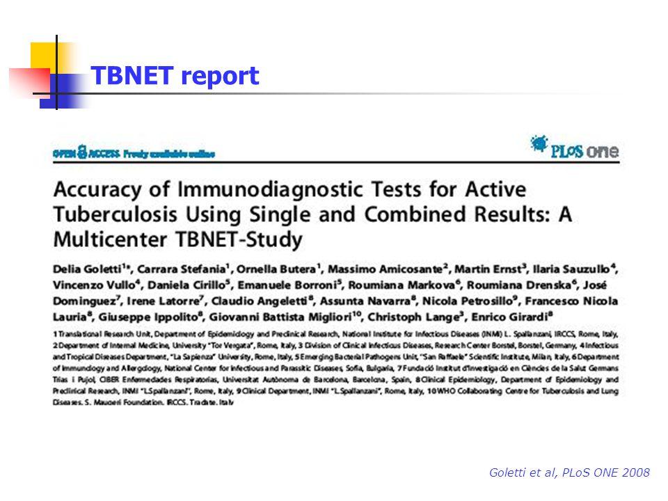 TBNET report Goletti et al, PLoS ONE 2008