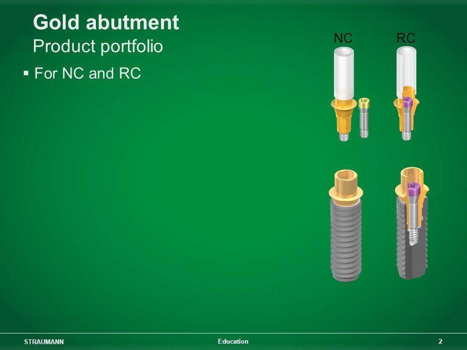 Gold abutment Product portfolio
