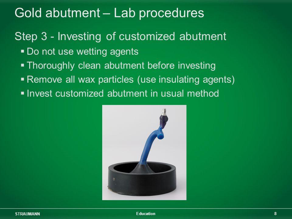 Gold abutment – Lab procedures