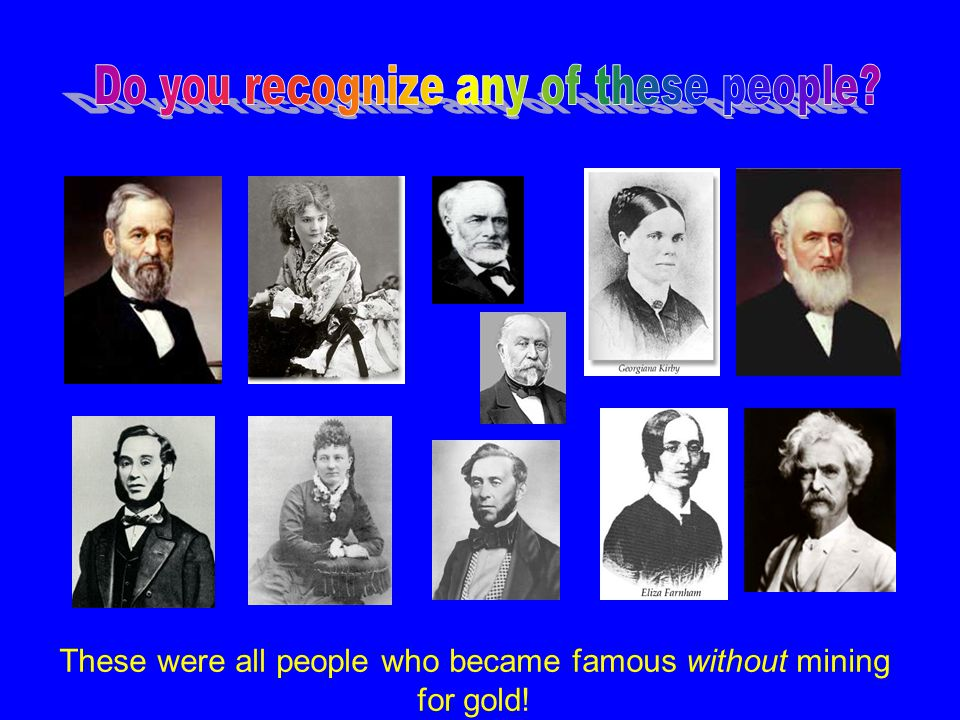 Do you recognize any of these people