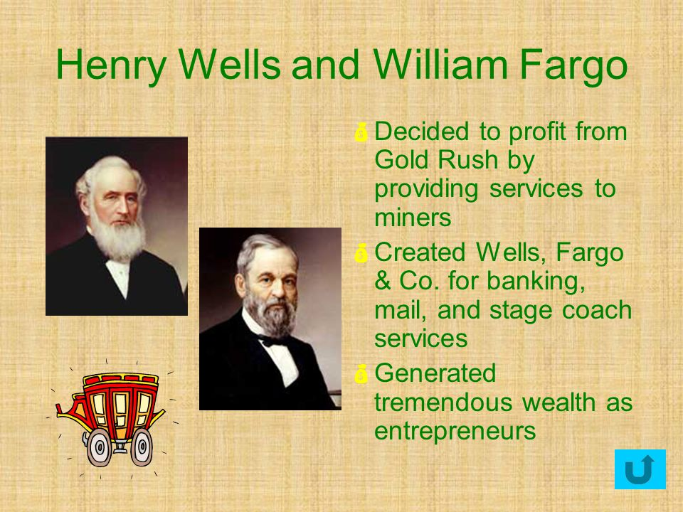 Henry Wells and William Fargo