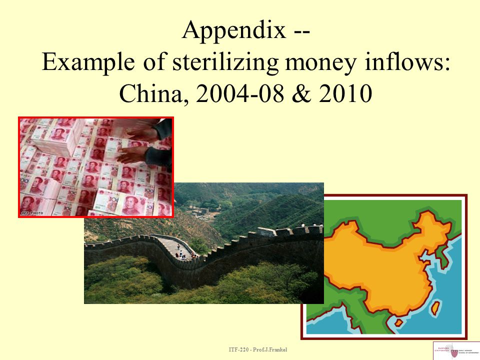 Appendix -- Example of sterilizing money inflows: China, & 2010