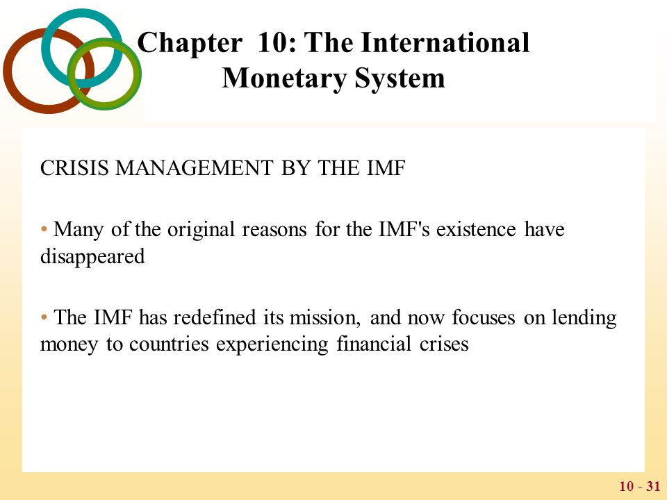 Chapter 10: The International Monetary System