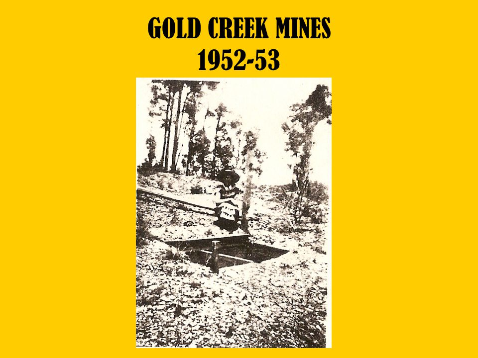GOLD CREEK MINES 1952-53