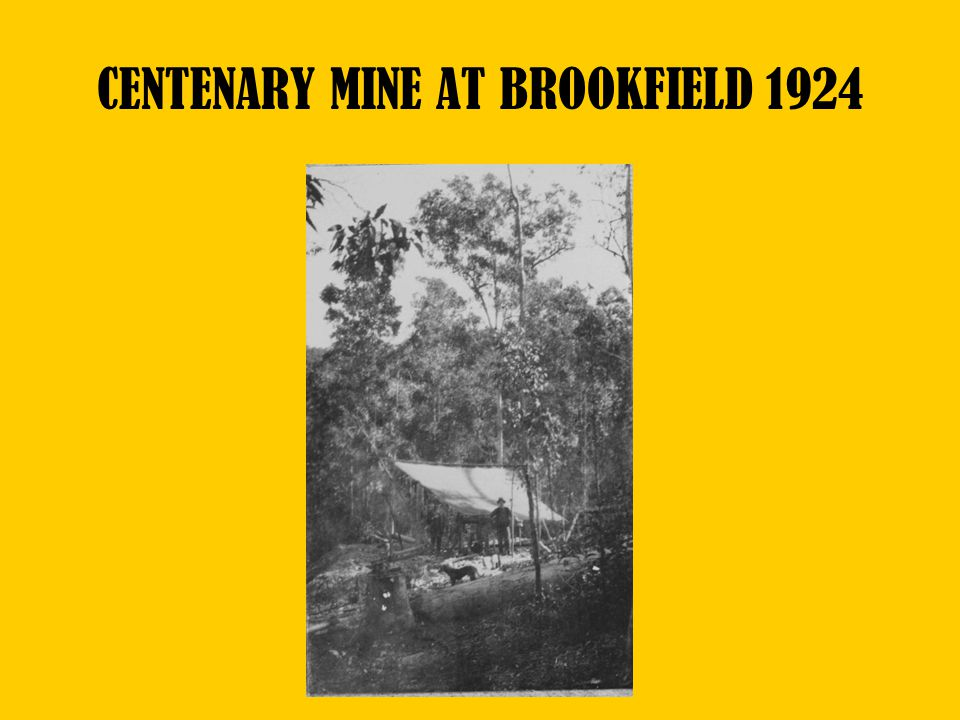 CENTENARY MINE AT BROOKFIELD 1924