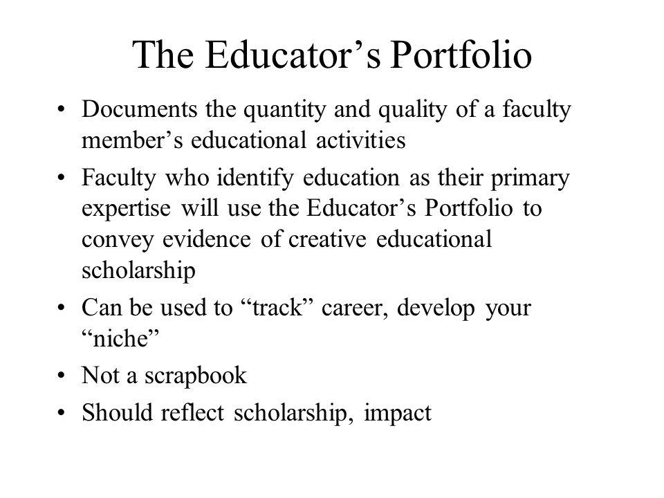 The Educator's Portfolio