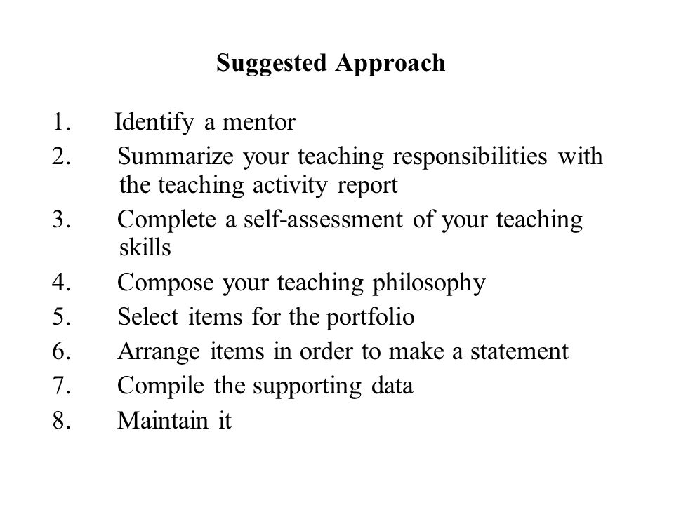3. Complete a self-assessment of your teaching skills