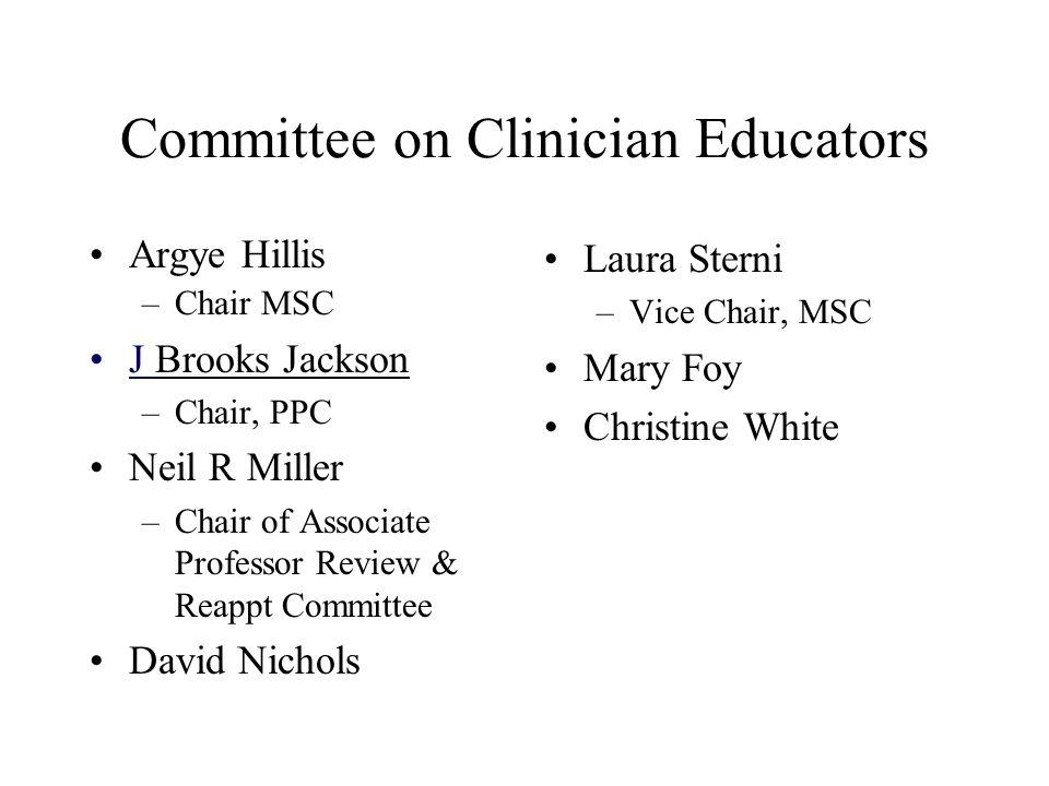 Committee on Clinician Educators