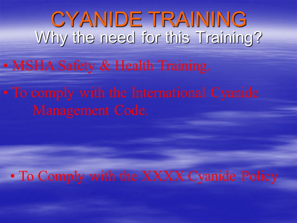 Why the need for this Training