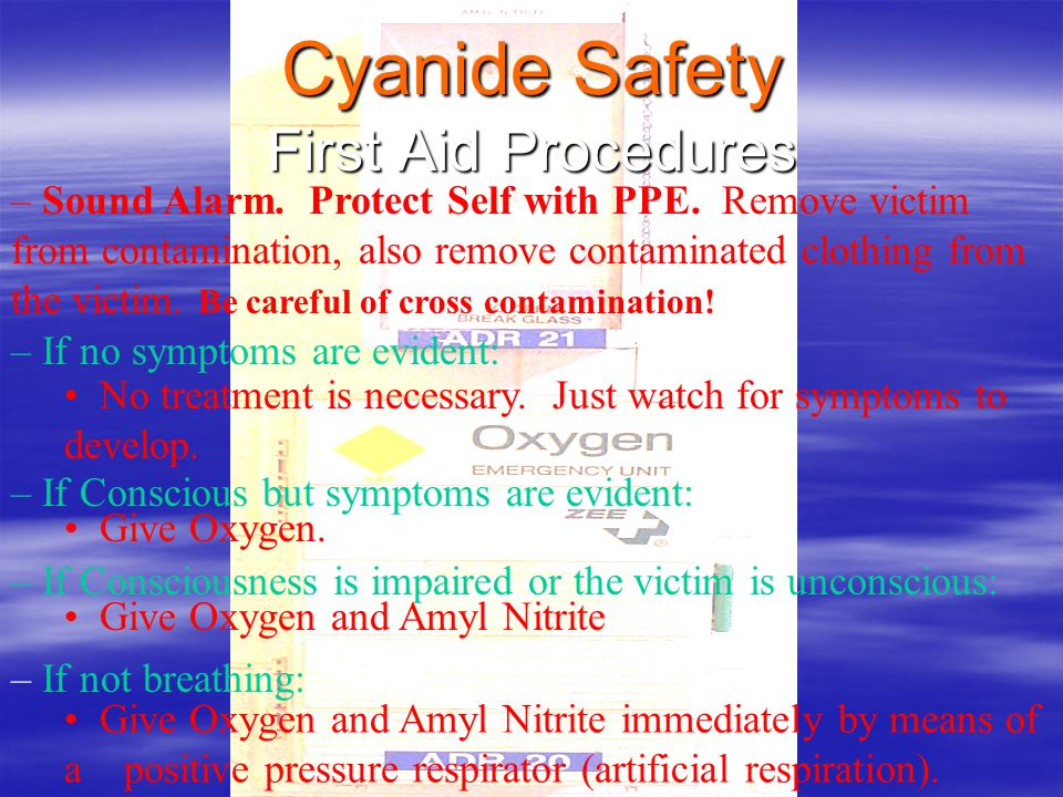 Cyanide Safety First Aid Procedures
