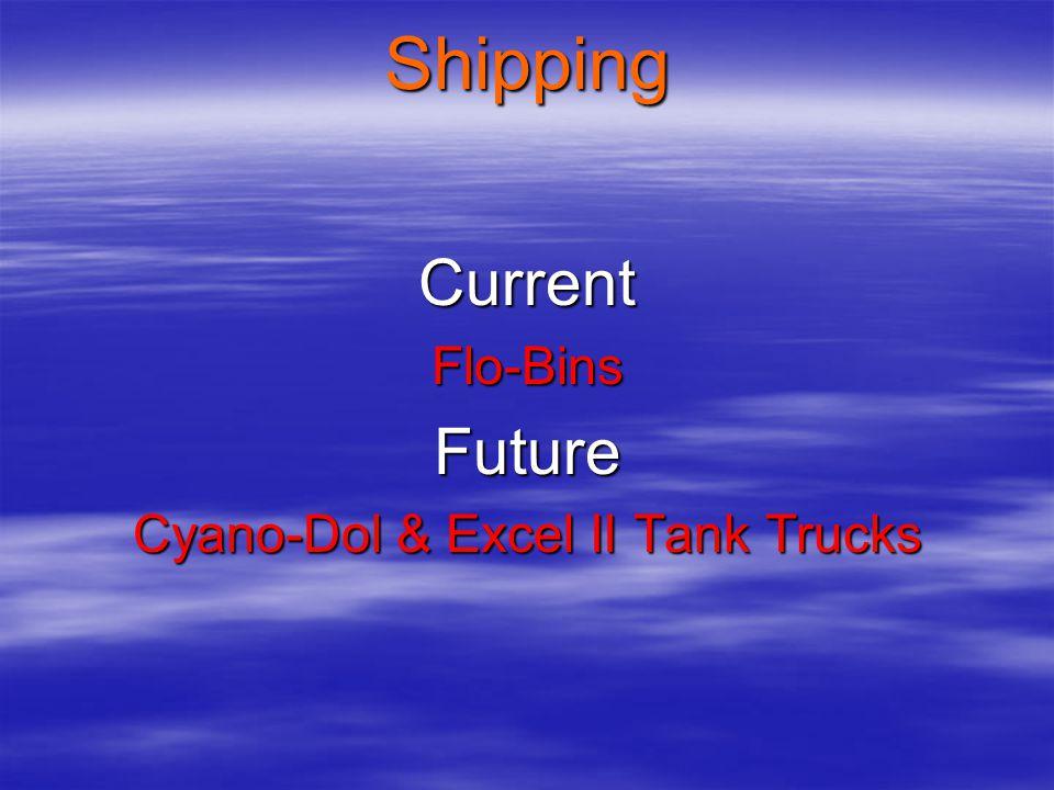 Current Flo-Bins Future Cyano-Dol & Excel II Tank Trucks