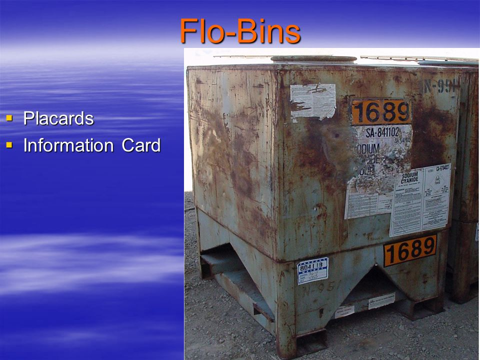 Flo-Bins Placards Information Card