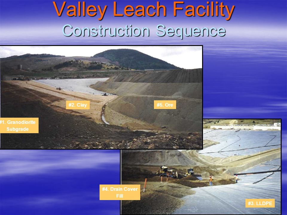 Valley Leach Facility Construction Sequence