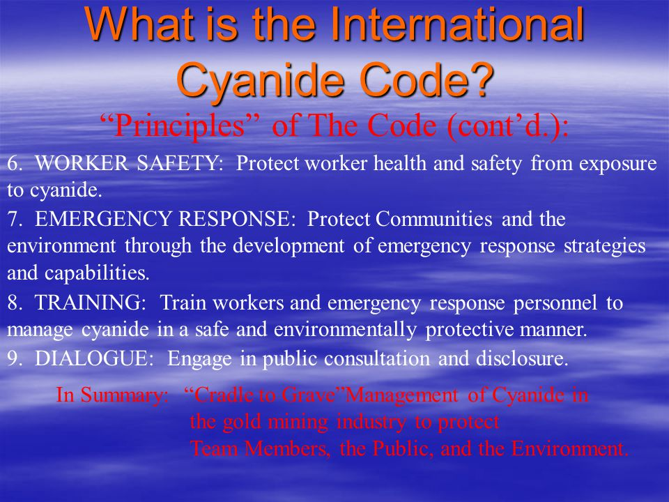 What is the International Cyanide Code