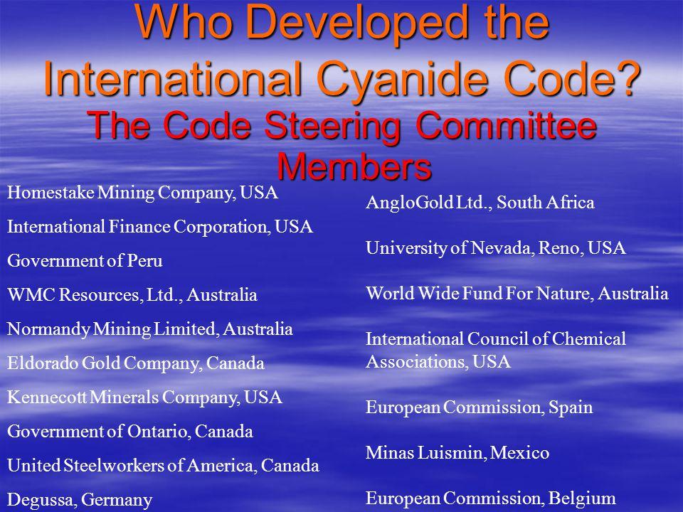 Who Developed the International Cyanide Code