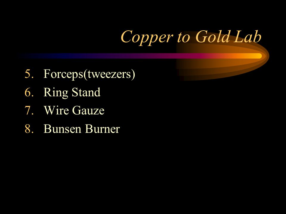 Copper to Gold Lab Forceps(tweezers) Ring Stand Wire Gauze
