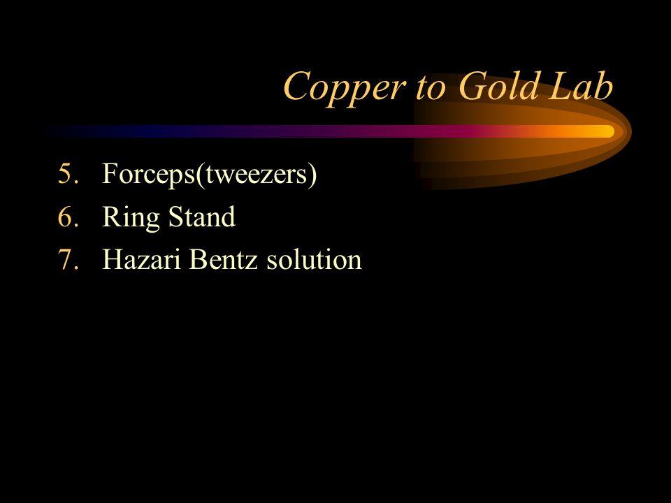Copper to Gold Lab Forceps(tweezers) Ring Stand Hazari Bentz solution