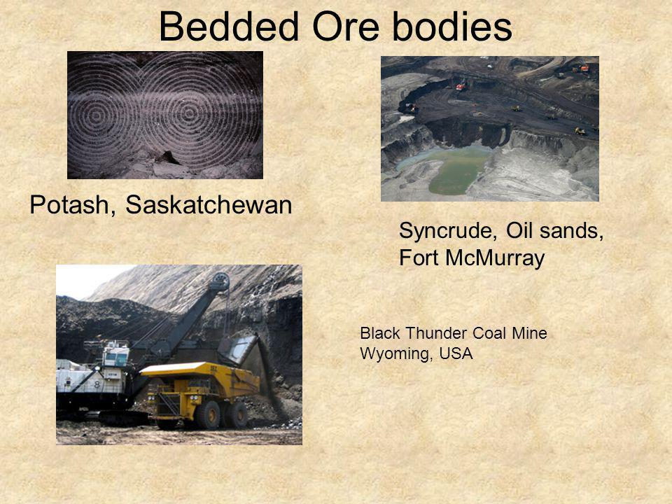 Bedded Ore bodies Potash, Saskatchewan Syncrude, Oil sands,