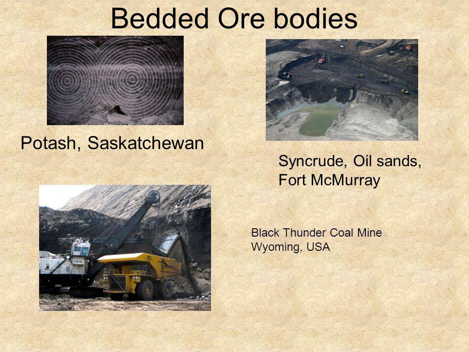 Bedded Ore bodies Potash, Saskatchewan Syncrude, Oil sands,