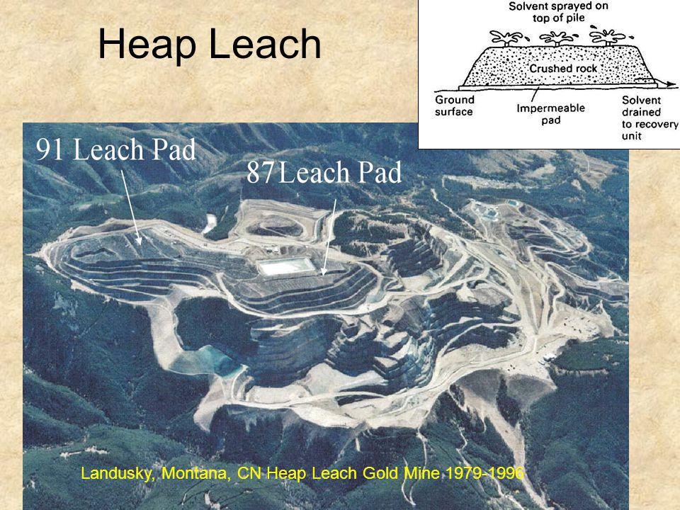 Heap Leach Landusky, Montana, CN Heap Leach Gold Mine 1979-1996