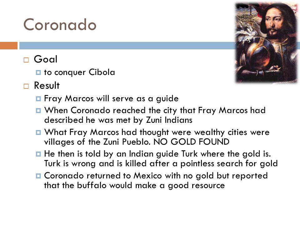 Coronado Goal Result to conquer Cibola