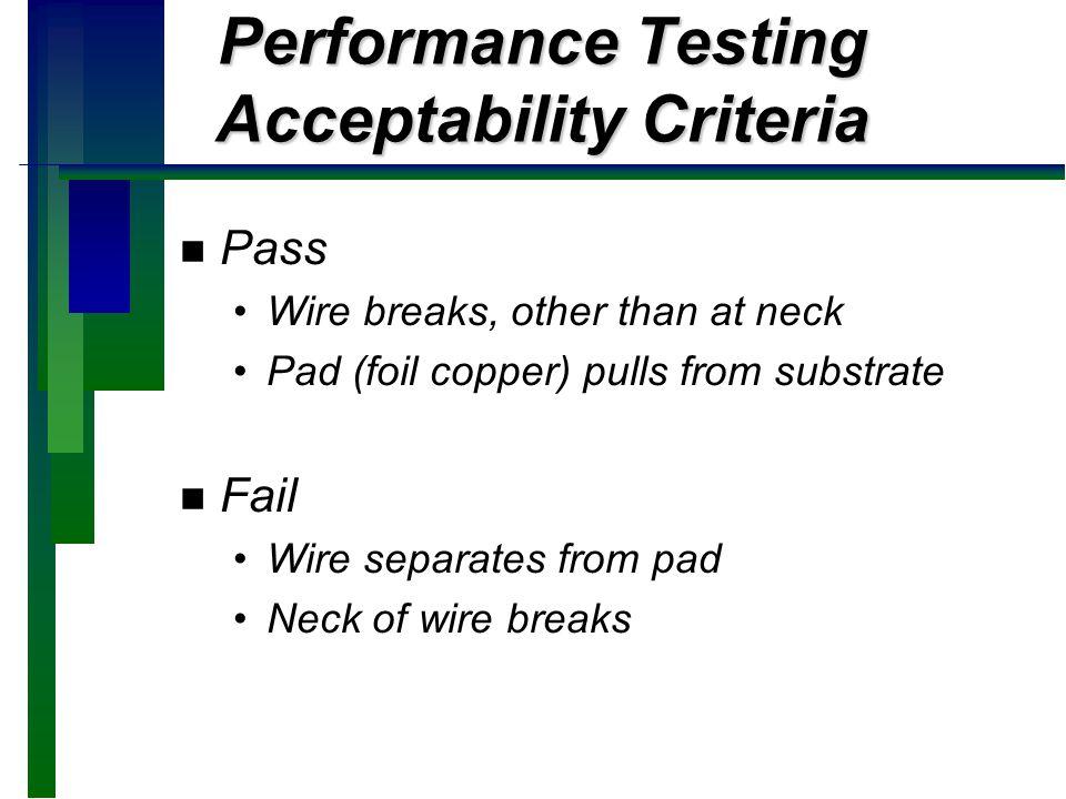 Performance Testing Acceptability Criteria