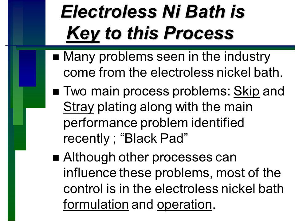 Electroless Ni Bath is Key to this Process